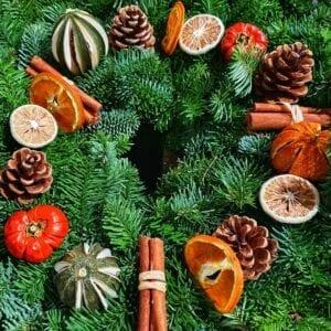 Citrus Cones Christmas Wreaths