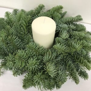 Advent Wreath With Candle