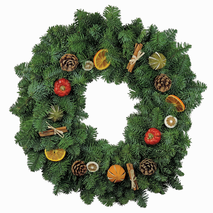 Citrus Cones Christmas Wreaths