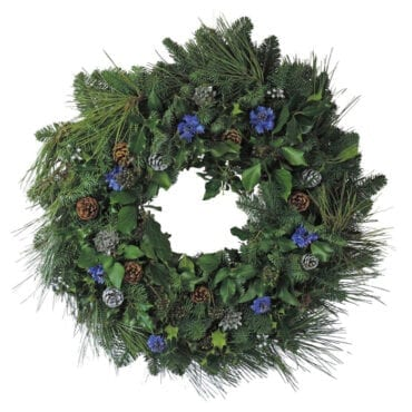 Cornflowers and Cones Christmas Wreaths