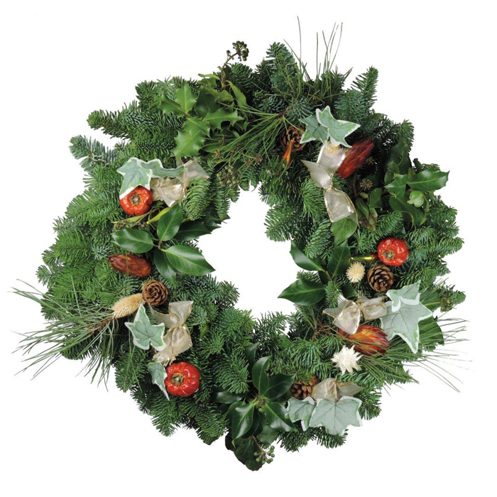 Fresh Christmas Wreaths.Mixed Ivy Foliage Christmas Wreaths