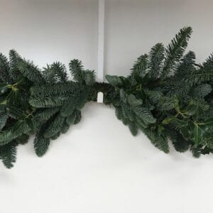Plain Holly Christmas Mantle