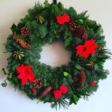 Red Floral Wreaths
